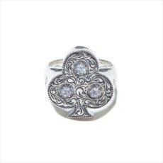 画像4: Antidote BUYERS CLUB Engraved Club Ring (With Stone) クラブリング (4)