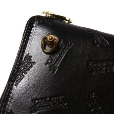 画像3: CALEE Allover Embossing Round Zip Long Wallet (3)