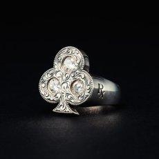 画像1: Antidote BUYERS CLUB Engraved Club Ring (With Stone) クラブリング (1)