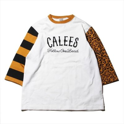 画像1: CALEE 3/4 Sleeve Set In T-Shirt (七分袖Tシャツ)