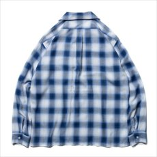 画像2: ROTTWEILER Rayon Check Open Collar LS Shirt (チェックシャツ) (2)