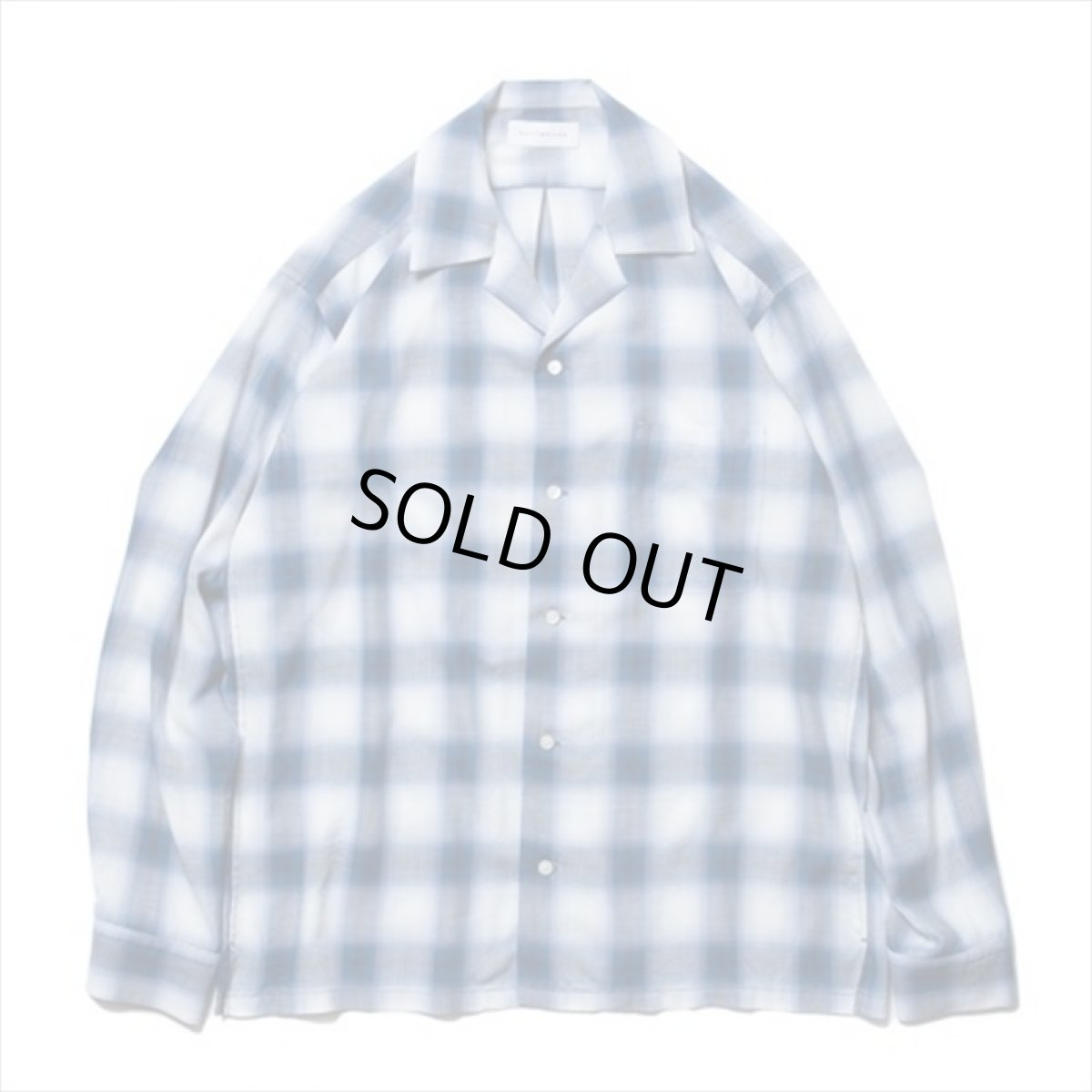 画像1: ROTTWEILER Rayon Check Open Collar LS Shirt (チェックシャツ) (1)