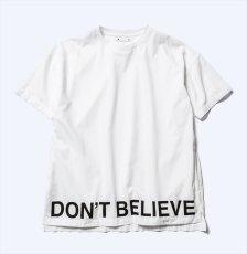 画像1: MINEDENIM Denim Hem Message Print T-SH (Tシャツ) (1)