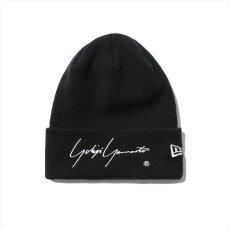 画像1: YOHJI YAMAMOTO x NEW ERA Basic Cuff Knit Cap 2020SS Signature Logo (ニットキャップ) (1)