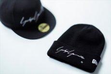 画像2: YOHJI YAMAMOTO x NEW ERA Basic Cuff Knit Cap 2020SS Signature Logo (ニットキャップ) (2)