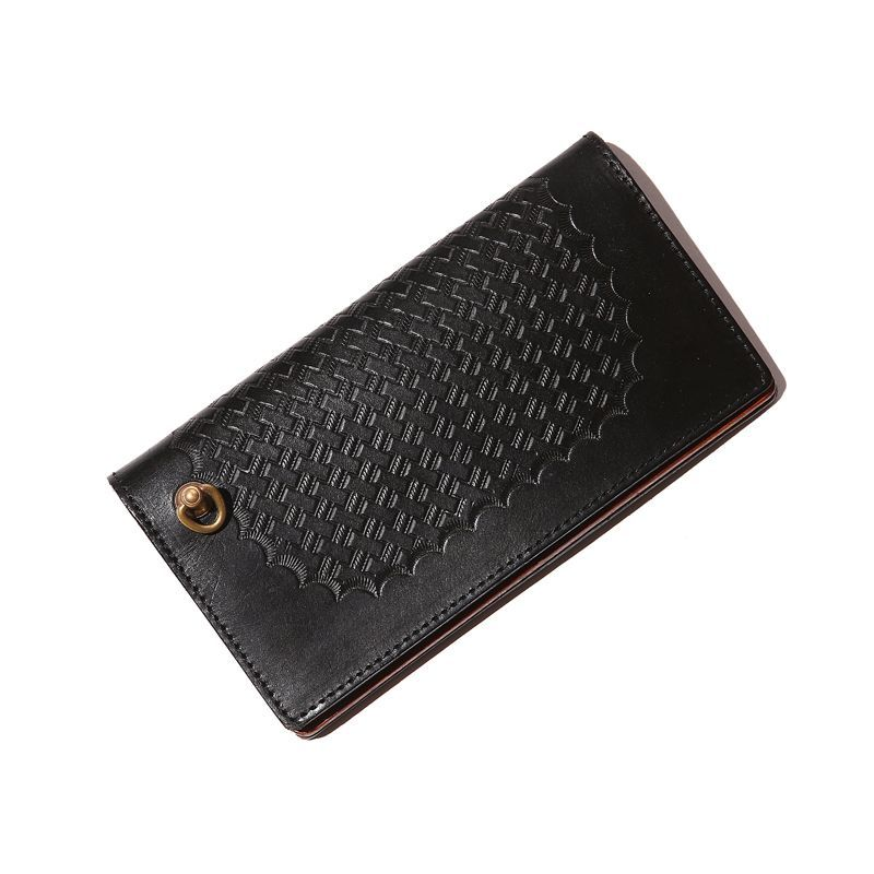 CALEE Embossing Leather Long Wallet