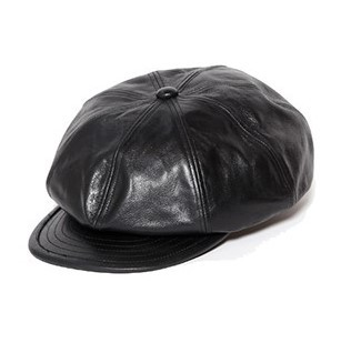 CALEE Leather Casquette
