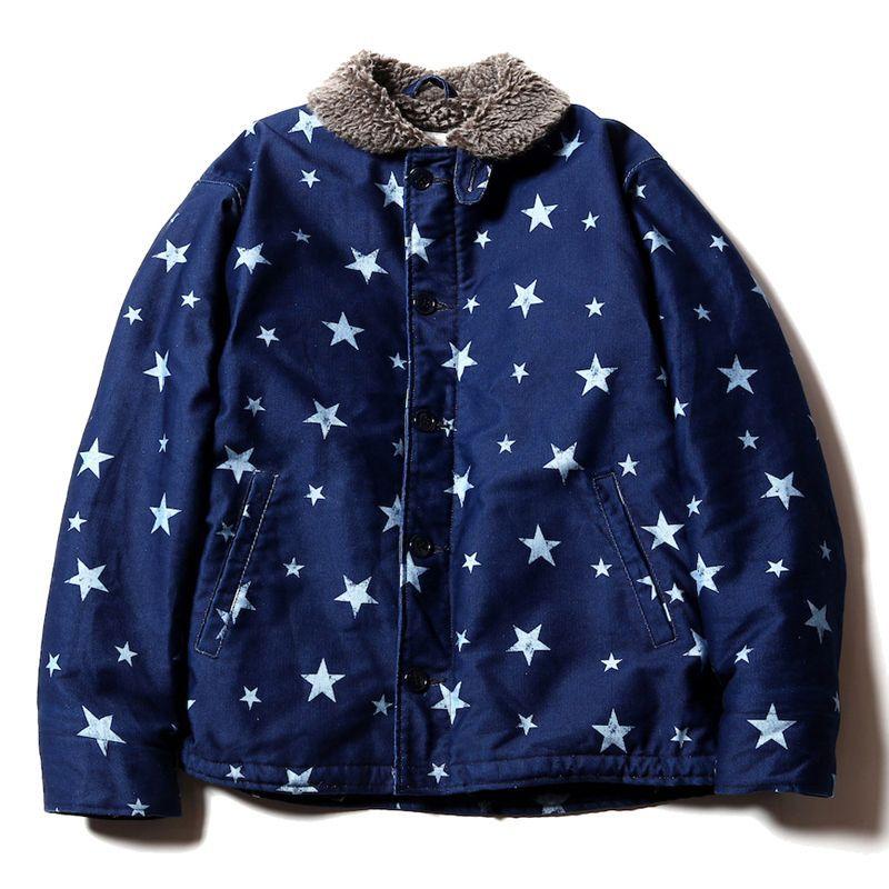 画像1: CALEE Star Pattern N-1 Type Deck Jacket (1)