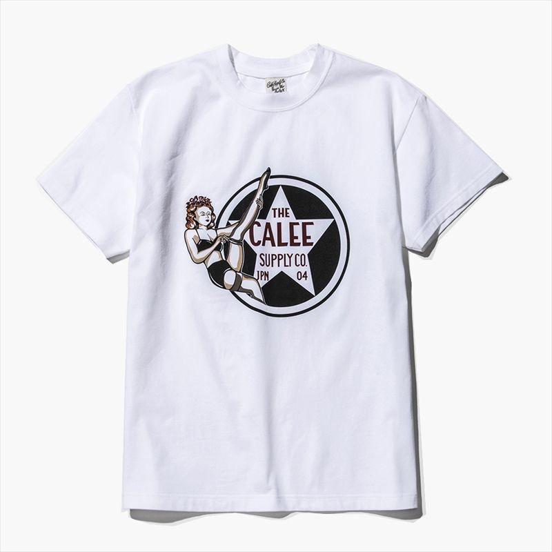 画像1: CALEE Pin Up Girl Star T-Shirt (ピンナップガールTシャツ) (1)