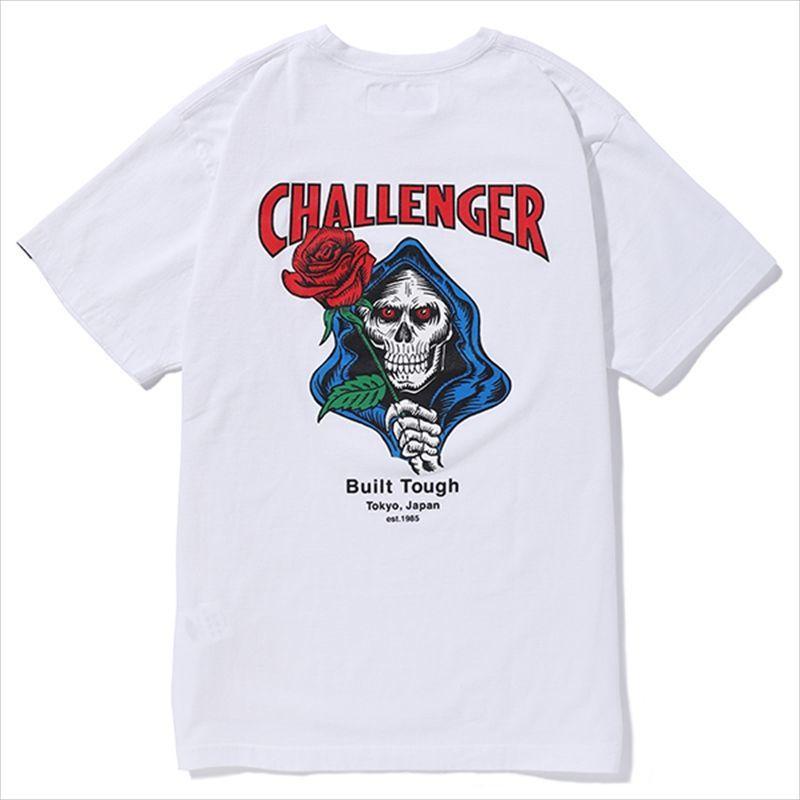 画像1: CHALLENGER Spade Skull Tee (Tシャツ) (1)