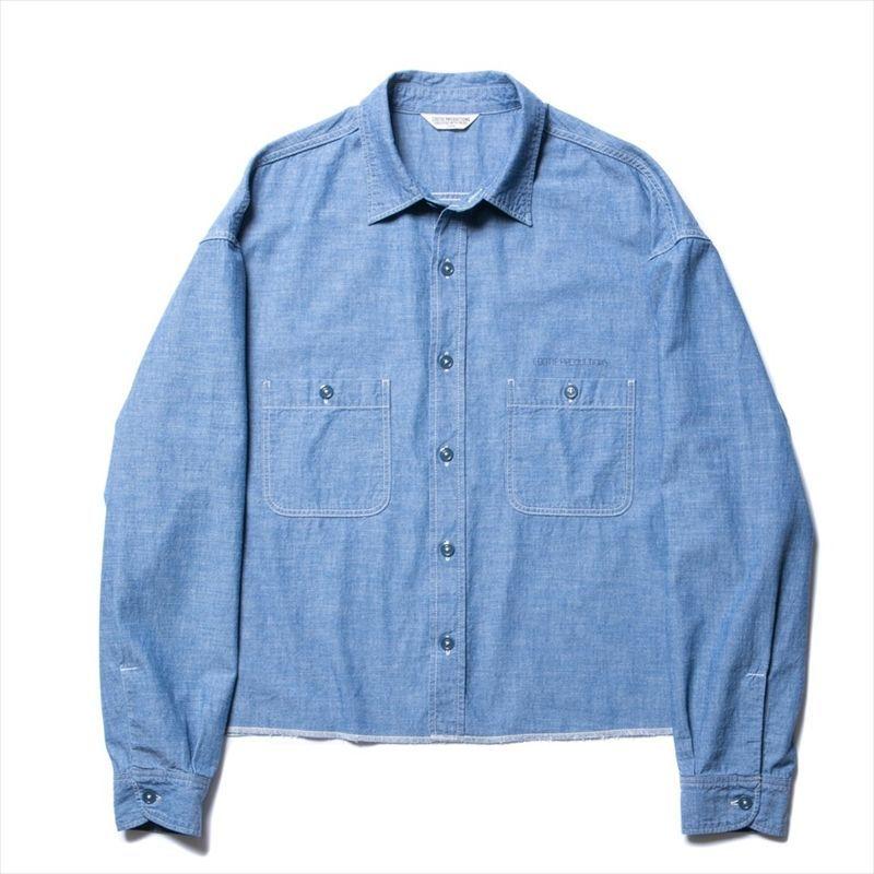 画像1: COOTIE Chambray Work Cutoff L/S Shirt (シャンブレーシャツ) (1)