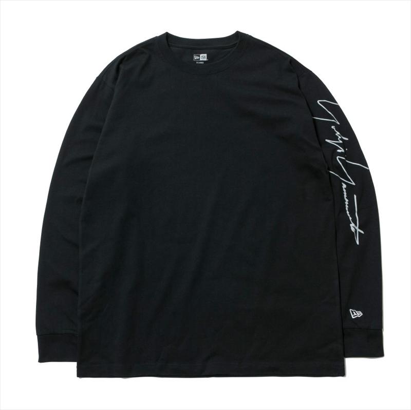 画像1: YOHJI YAMAMOTO x NEW ERA L/S T-shirt 2020SS Signature Logo (ロングTシャツ) (1)