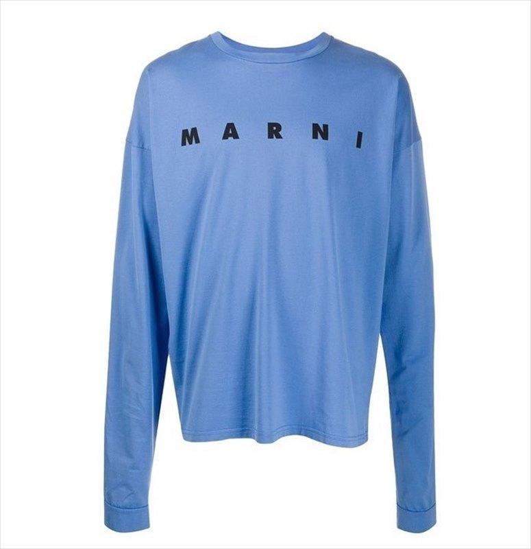 画像1: MARNI Logo Print L/S T-Shirt (ロングTシャツ) (1)