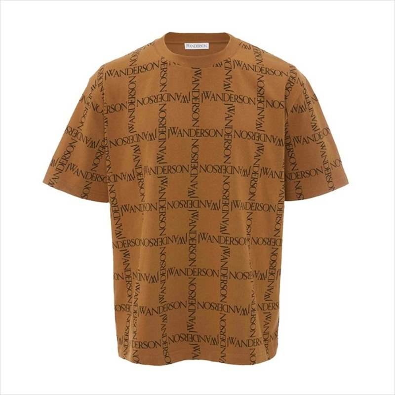 画像1: JW ANDERSON Oversize Logo Grid All Over T-Shirt (Tシャツ) (1)